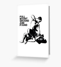 MMA Full mount ground and pound BJJ  Greeting Card