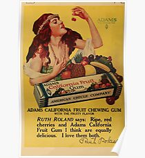 Advertisements Photoplay Magazine April through September 1918  0632 Adams Pure Chewing Gum Poster