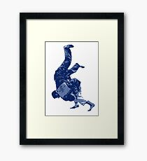 Judo Throw in Gi Framed Print