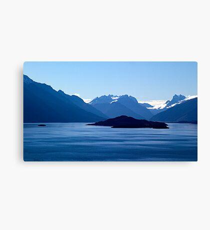 Blue patterns Canvas Print