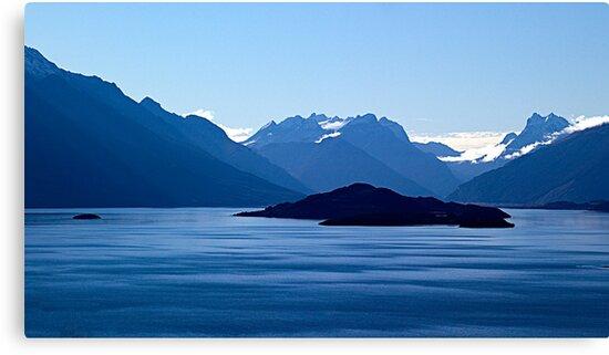 Blue patterns by Odille Esmonde-Morgan