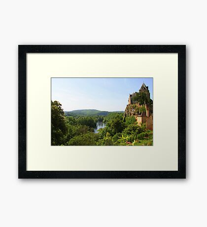 On the road to Castelnaud  Framed Print