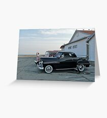 Classic 50's Plymouth Coupe at the Beach Greeting Card
