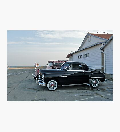 Classic 50's Plymouth Coupe at the Beach Photographic Print