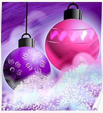 Amazing beauty of colourful hanging bulbs	 Poster