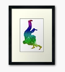 Judo Throw in Gi Multicolour  Framed Print