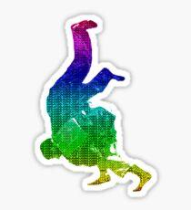 Judo Throw in Gi Multicolour  Sticker