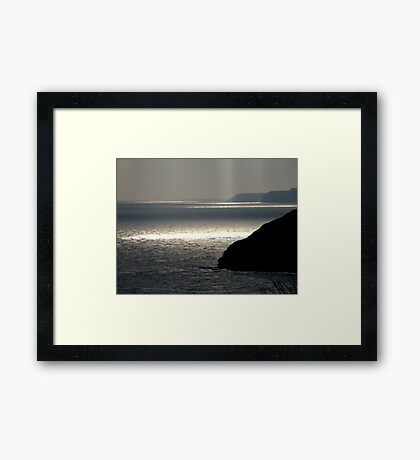Through the Clouds 2 Framed Print