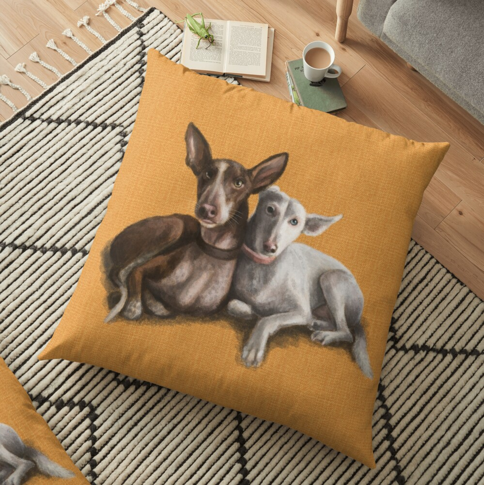 The Podenco Floor Pillow
