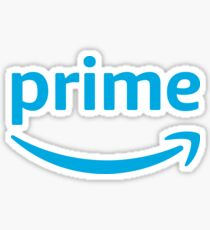 Prime logo blue with white background Sticker