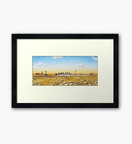 Tour De Outback Framed Print