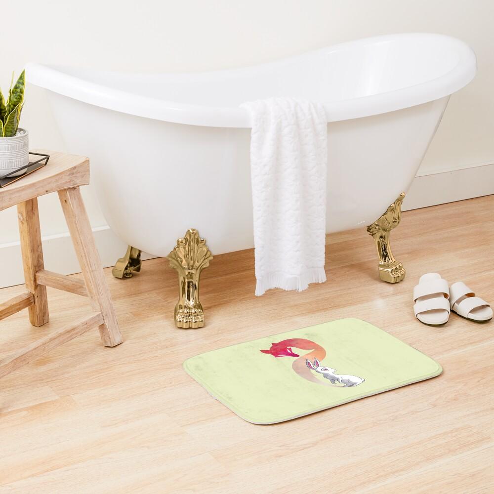 Rabbit and a Fox Bath Mat
