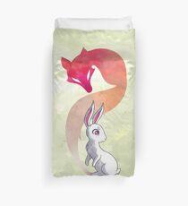Rabbit and a Fox Duvet Cover