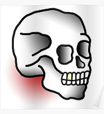 Traditional Skull (Tattoo style) Poster