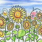 Field of Summer Sunflowers by Kevin Cameron