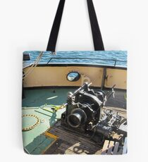 Anchor Winch etc., aboard Steam Tug 'Yelta' Port Adelaide. Tote Bag