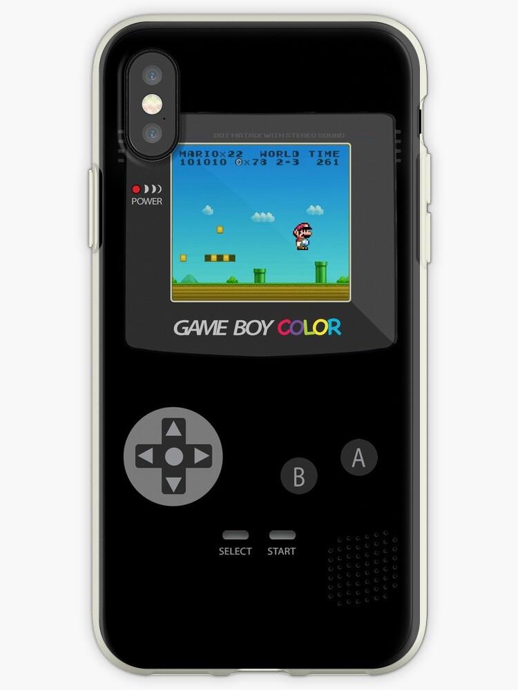 'Retro Nintendo Game Boy Super Mario ' iPhone Case by CroDesign