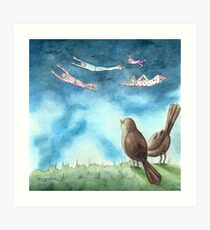 """I was Flying"" by Robin Galante Art Print"