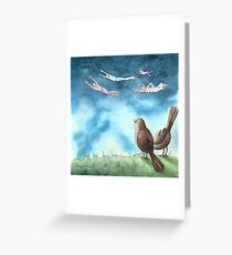 """""""I was Flying"""" by Robin Galante Greeting Card"""