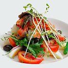 Smoked salmon nicoise by Nino Ulaan