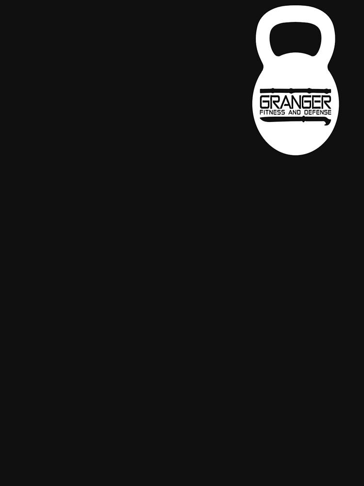 White Kettlebell Logo for Granger Fitness and Defense by johngranger