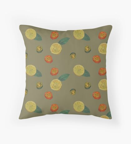 Chilli and Lemon Throw Pillow