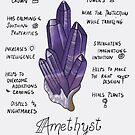 Amethyst Crystal Poster by wonderfulhippie