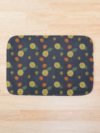Chilli and Lemon Blue Bath Mat
