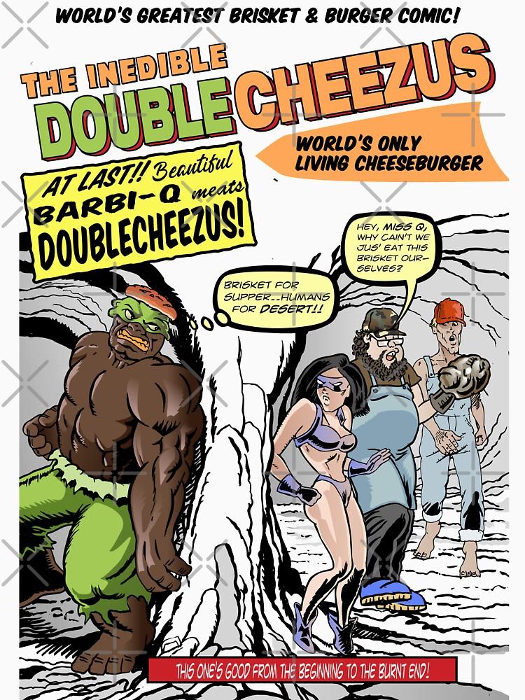 Brisket and Burger Comic T-Shirt by dave-ulmrolls