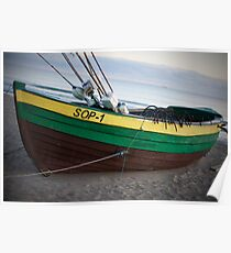 Beached Boat in Sopot Poster