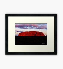 Uluru at sunset Framed Print