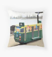 The Tram to St Kilda Throw Pillow