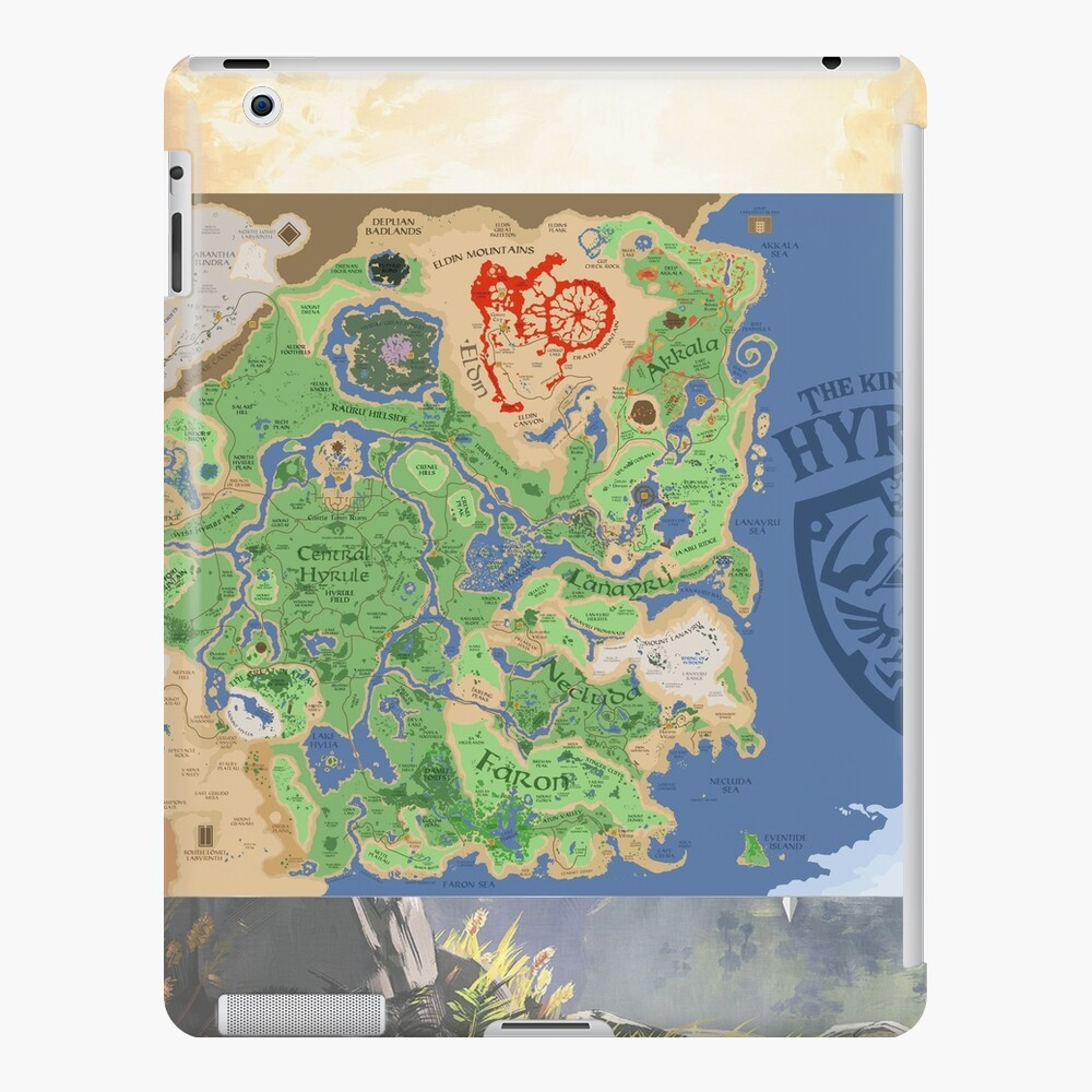 The Legend Of Zelda Breath Of The Wild Map Poster Wall Tapestry Art Board Etc Ipad Case Skin