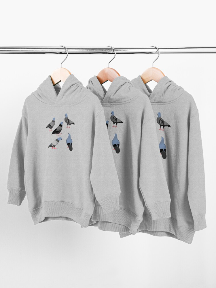 Alternate view of Design 33 - The Pigeons Toddler Pullover Hoodie