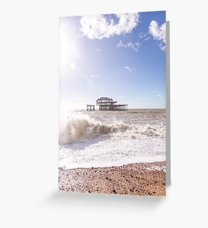 The remains of the West Pier, Brighton, UK Greeting Card