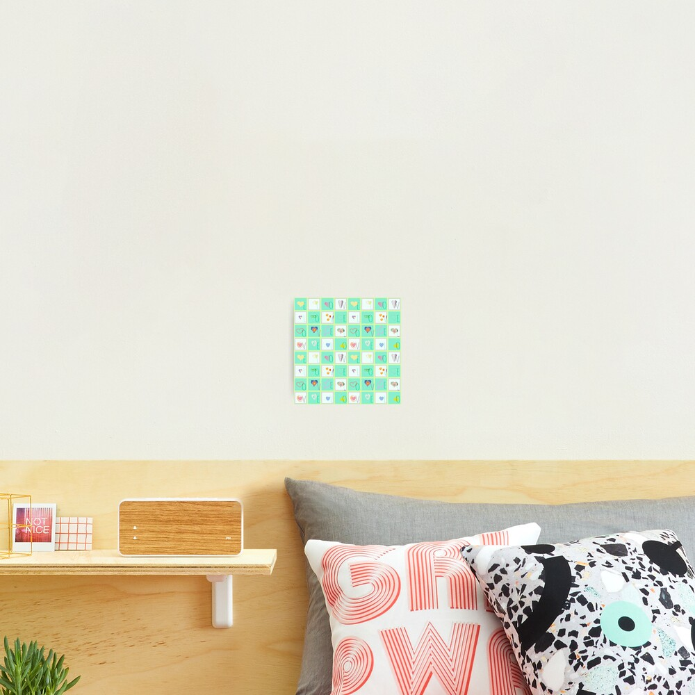 Love Whimsy Squared Seamless Tiles Photographic Print
