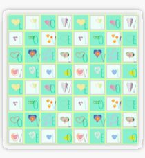 Love Whimsy Squared Seamless Tiles Transparent Sticker