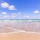 Lapping waves at Watergate Bay, Cornwall, UK by Zoe Power