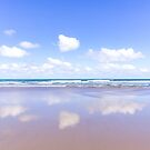 Little fluffy clouds reflected by Zoe Power