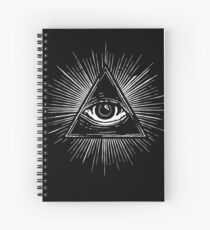 Illuminati Occult Pyramid Sigil Spiral Notebook