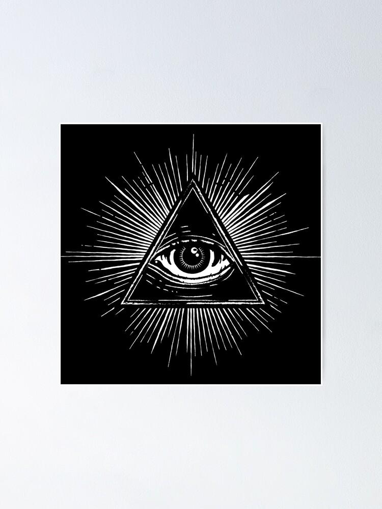 Alternate view of Illuminati Occult Pyramid Sigil Poster