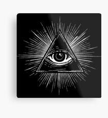 Illuminati Occult Pyramid Sigil Metal Print