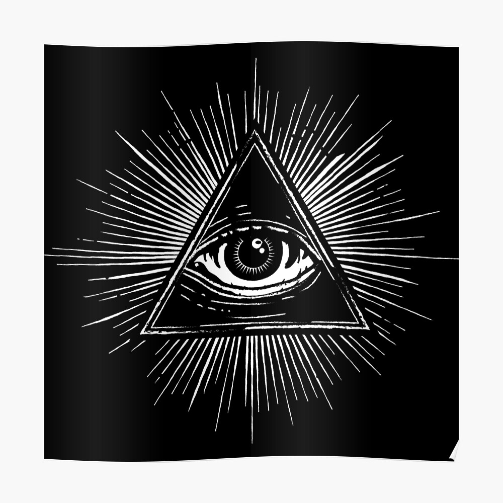 Illuminati Occult Pyramid Sigil Poster