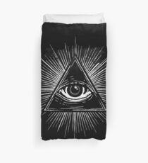 Illuminati Occult Pyramid Sigil Duvet Cover