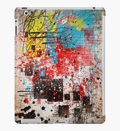 Abstract, Splatter, Paint, Print, Thrown paint, jackson pollock, painting, art, picture, poster, drip, aged, expressionist, pop art, liquid, action, joe badon iPad Case/Skin