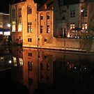 Old House at canal (Brugge, Belgium) by Antanas