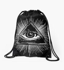 Illuminati Occult Pyramid Sigil Drawstring Bag