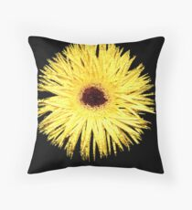 Bubbly Sunflower Throw Pillow