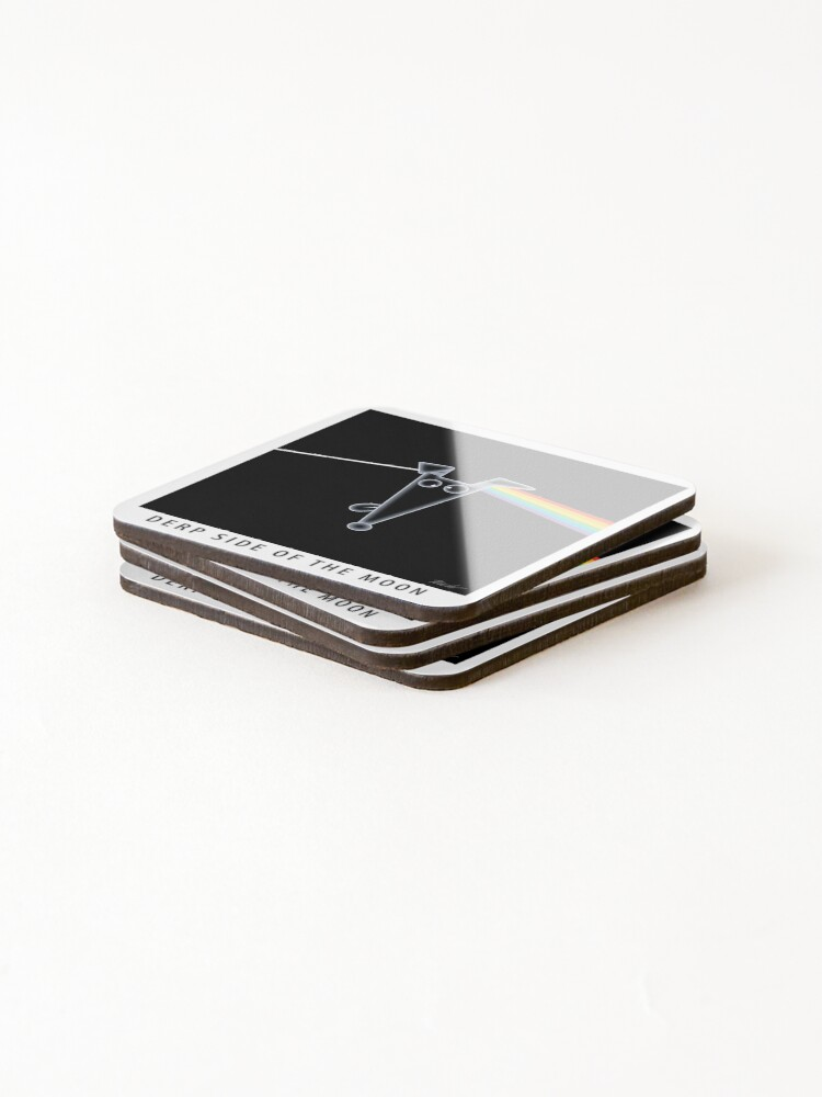 Alternate view of Derp Side of the Moon Coasters (Set of 4)
