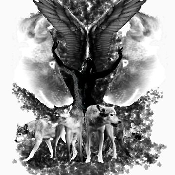 Angel and Wolves by Laceranimus